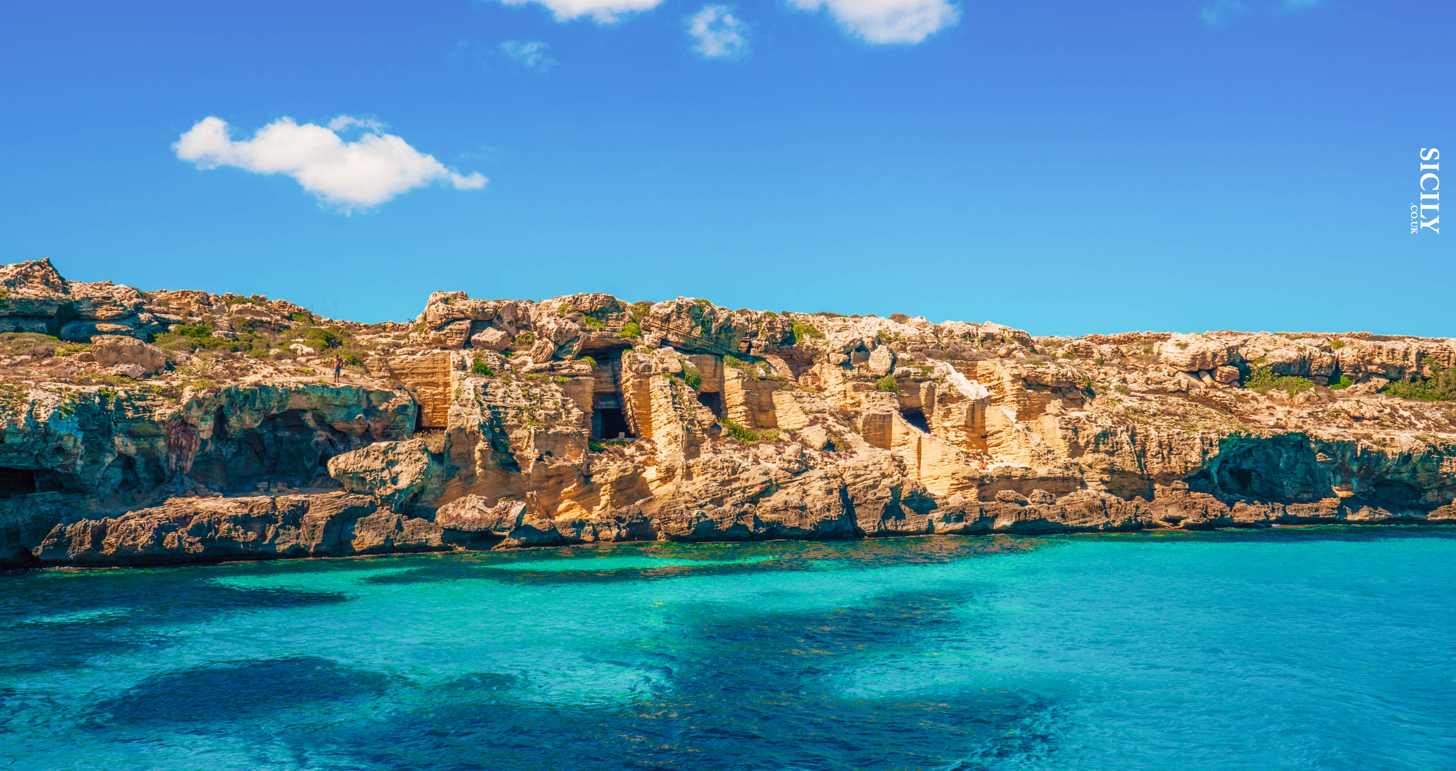 Caves in Favignana - Sicily