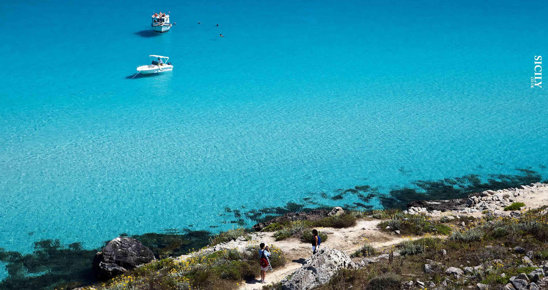 Cala Rossa Beach in Favignana - Sicily