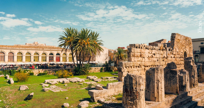 Temple of Apollo in Ortigia - Sicily